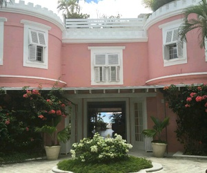 house, pink, and barbados image