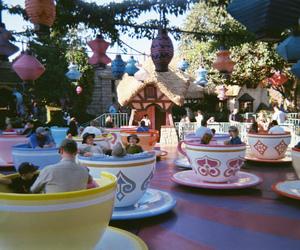disneyland, photography, and teacups image