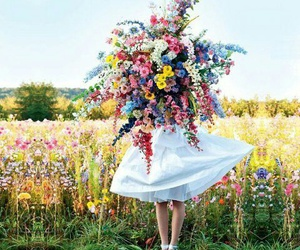 flowers, summer, and dress image