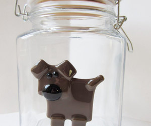 dogs, etsy, and glass container image