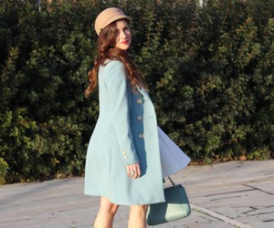 coat, hair, and fashion blogger image