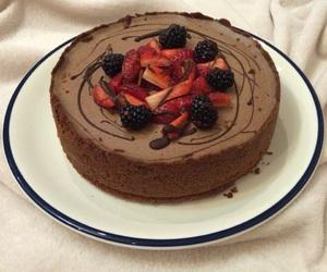 berries, cake, and cherry image