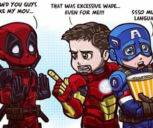 deadpool, captain america, and Marvel image
