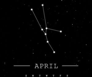 april, background, and constellation image