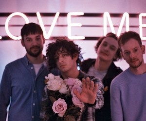 the 1975, love me, and music image