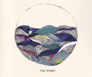 art, the ocean, and illustration image