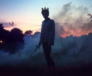king, dragon, and fantasy image
