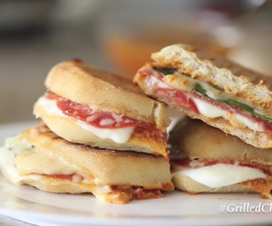 basil, grilled, and mozzarella image