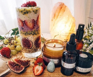 cosmetics, figs, and fruit image