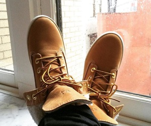 newyork, timberlands, and shoes image