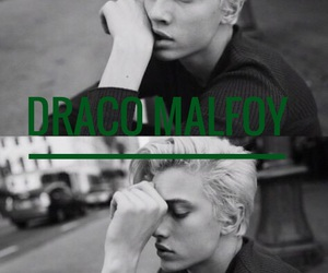 aesthetic, black and white, and draco malfoy image