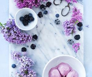 food, ice cream, and flowers image