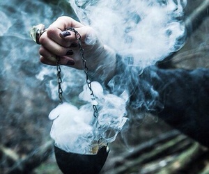 smoke, witch, and magic image