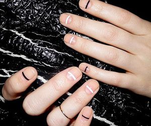 black, manicure, and cute image