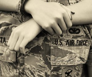 air force, hands, and honor image