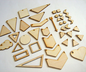 geometric jewelry, etsy, and laser cut image