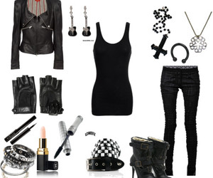 black, clothes, and gloves image