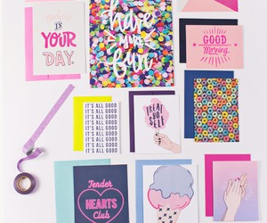 art, cards, and pink image