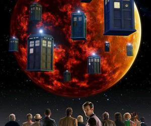 doctor who, tardis, and matt smith image