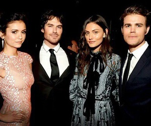 ian somerhalder, paul wesley, and phoebe tonkin image