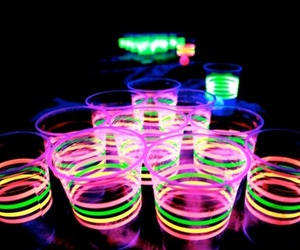 drink, neon, and light image