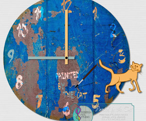 craft supplies, etsy, and wall clock image