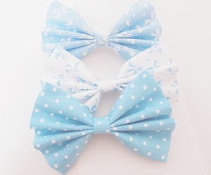 blue, bow, and cute image