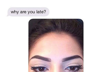 funny, makeup, and eyebrows image