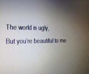 quotes, beautiful, and ugly image