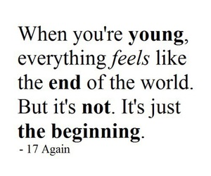 quote, young, and end image