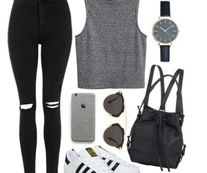adidas, grunge, and outfit image