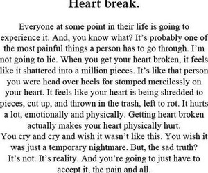 heartbreak, quote, and heart break image