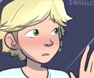 Adrien, awww, and blush image