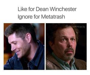 dean winchester, heart, and like image
