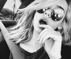 girl, amanda steele, and sunglasses image