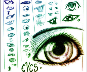 drawing, eyes, and help image