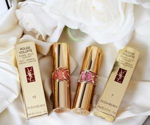 lipstick, YSL, and makeup image