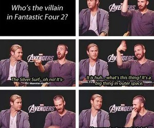 funny, Avengers, and chris evans image