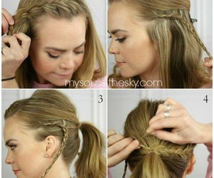 braid, braided, and braid hairstyle image