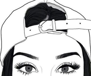 outline, tumblr, and eyes image