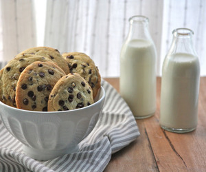 milk, Cookies, and food image