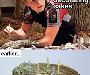 funny, cake, and hunger games image