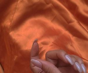 nails, fashion, and orange image