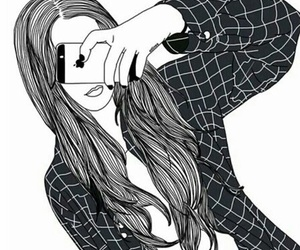 iphone, outline, and tumblr image