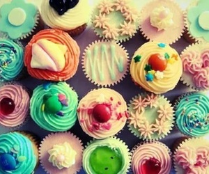 cupcake, sweet, and colorful image