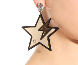 earrings, party wear earrings, and star earrings image