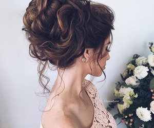 hair, promhair, and updo image