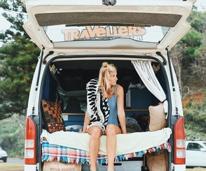 adventure, travel, and blonde image
