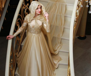 gown, modest, and modesty image