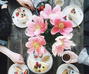 flowers, food, and breakfast image